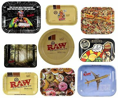 Small Medium Large Raw Rolling Tray Ashtray Smoking Cigarette Gift Collectable