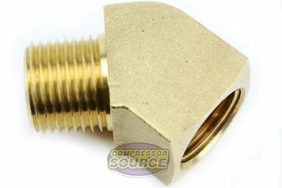 "Rapid Air 45 Degree 1/4"" NPT Pipe Thread Brass Street Elbow Fitting USA 50130"