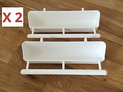 2 X 17.5cm Feeder With Perch For Cage Birds/Aviary/Finch/Budgie/Canary Etc