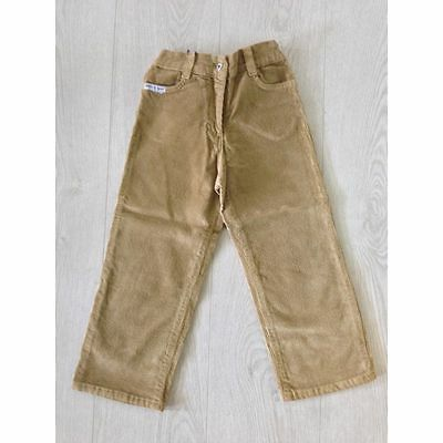 D&G Junior Girls Corduroy Jeans Trousers Beige Size Age 3 to 10 Years Brand New