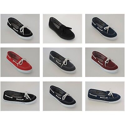 Women moccasin Flat Shoe Slip On Loafer Comfort Comfy Round Toe Canvas Sneakers