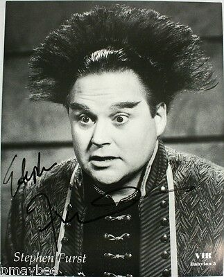 "Stephen Furst as VIR COTTO in Babylon 5 - AUTOGRAPHED 8""x10"" Photo - B&W"