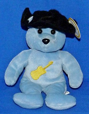 "Celebrity Bear #3 Country Star Guitar (Chesney?) Blue (9"") Plush Boys Girls 3+EX"
