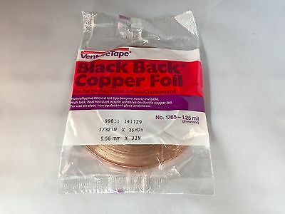 """7/32"""" Stained Glass BLACK BACK Copper Foil Tape"""