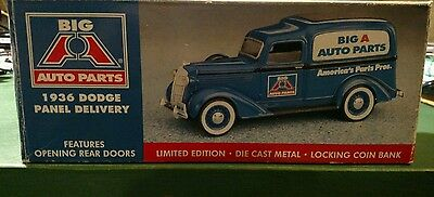 1936 Dodge Panel Delivery Truck Locking Coin Bank Big A Auto Parts