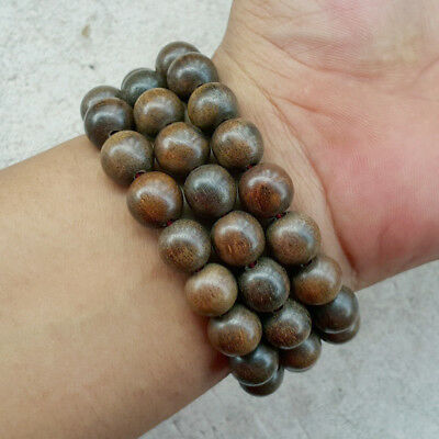 12 MM Aetoxylon Agarwood Bracelet Indonesian Gaharu Buaya 18 Beads Aloeswood