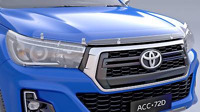 Toyota Hilux Bonnet Protector Clear From July 2015> New Genuine Accessory