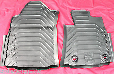 Toyota Hilux Rubber Floor Mats Front Pair Auto From July 2015> New Genuine