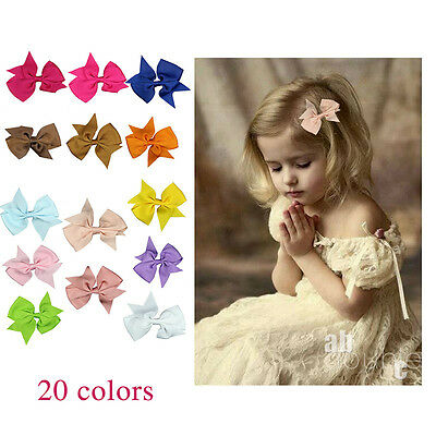 20pcs  bow with satin covered girls hair band baby headband kids hair bands hair