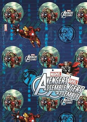 Marvel Avengers Assemble | Hulk | 2 Sheets of Giftwrap | Paper | 2 Gift Tags