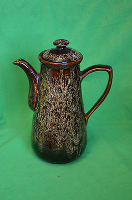 Vintage Fosters Cornwall Cornish Pottery Brown Honeycombe Coffee Pot