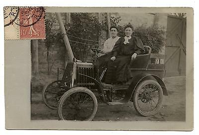 Carte Photo.voiture.automobile Ancienne A Manivelle.