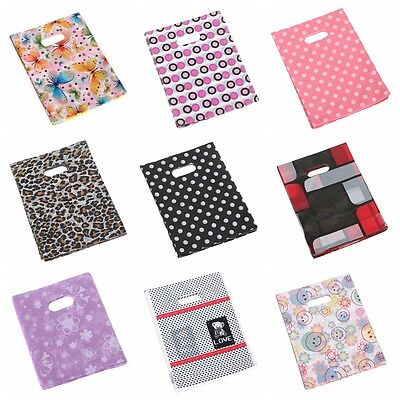 100PCS 20*15CM Pretty Mixed Pattern Plastic Jewelry Gift Bag Shopping Pouch HOT