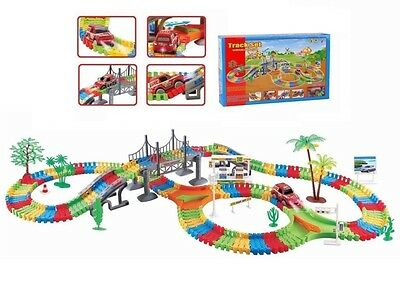 Flexible Variable Track Set 154/257 Children Kids Car Racing Game Light Battery
