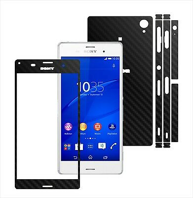 3D Carbon Skin,Full Body Protector for Case,Vinyl Wrap For Sony XPERIA Z3