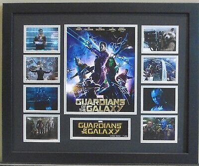 Guardians Of The Galaxy Cast Signed Limited Edition Framed Memorabilia