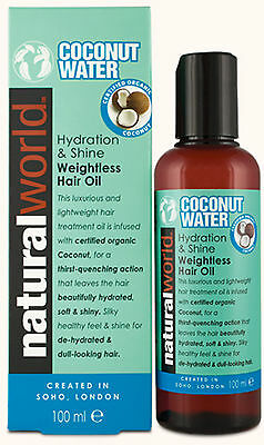 Natural World Coconut Water Hair Treatment Oil 100ml-Eliminates Frizz,Adds Shine