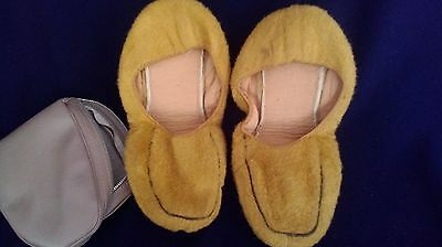 Vintage mens slippers in travel case zip case