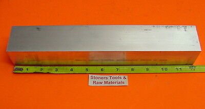 "2"" X 2"" ALUMINUM 6061 SQUARE FLAT BAR 12"" long T6511 Solid 2.000"" Mill Stock"