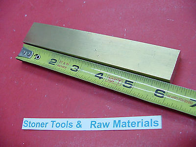 "1/2"" x 1"" C360 BRASS FLAT BAR 6"" long Solid Mill Stock H02 .50""x 1.00""x 6"