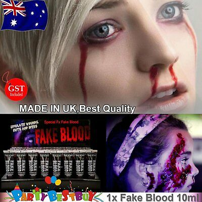 Professional Fake Blood 10ml tube Goth vampire costume halloween gothic Party