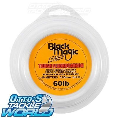 Black Magic Tough Fluorocarbon Leader (60 lb.) BRAND NEW at Otto's Tackle World