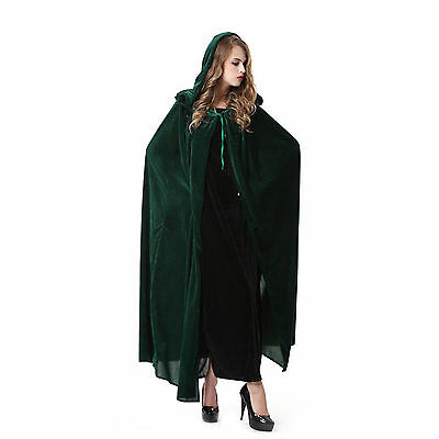 Cloak Cape with Hooded Masquerade Halloween Costume + Key Ring
