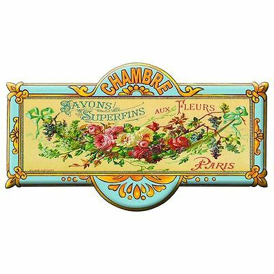 French Chic Style Paris Vintage Metal Bedroom Sign
