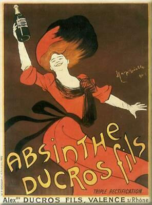 Vintage Style French Red Absinthe Advert Metal Sign Wall Plaque 15x20cm