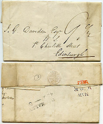 Scotland 1824 Dalmally Letter Castle Glenorchy Signed Turner