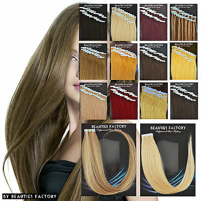 Super Adhesive Tape in Weft 20 inch 100% Remy Human Hair Extensions Salon Grade