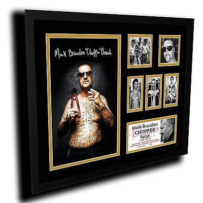 Mark Brandon Chopper Read Limited Edition Framed Memorabilia