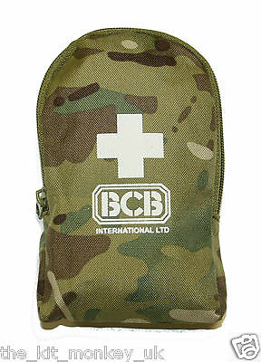 BCB Army Personal First Aid Kit in Multicam Camouflage Pouch compliments MTP