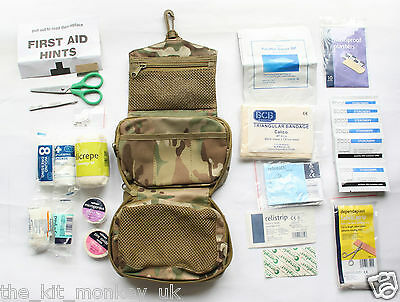 BCB Army Comprehensive first aid kit in a Multicam hanging medics pouch (MTP)