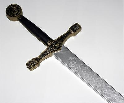 "EXCALIBUR King Arthur Medieval Knight Crusader 45"" LARP SCA LATEX FOAM SWORD New"