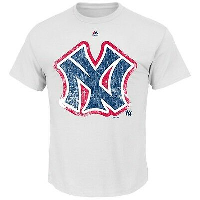 MLB Baseball NEW YORK NY YANKEES League Supreme Cooperstown T-Shirt Majestic