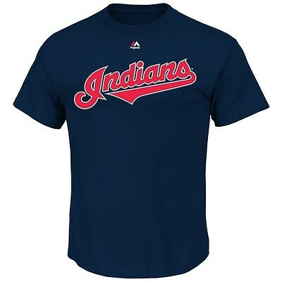 MLB Baseball CLEVELAND INDIANS T-Shirt Wordmark von Majestic