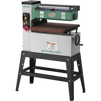 """G0458 Grizzly 18"""" 1-1/2 HP Single-Phase Open End Drum Sander"""