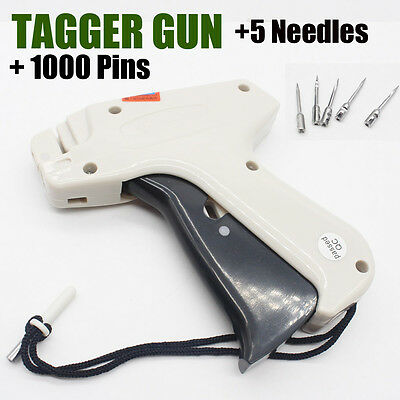 Clothes Garment Price Label Tag Tagging Standard Gun+1000 Barbs+5 Needles New AU