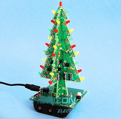 Christmas tree LED flashing light DIY Kit Red Green Flash Circuit LED