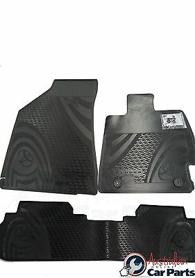 KLUGER Rubber Floor Mats Front & Rear New Genuine Toyota 2007-2013 All Weather