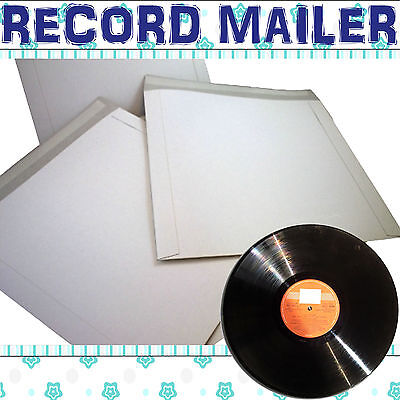 "12"" Record Mailers Envelopes Peel + Seal White Board Vinyl LP CHOOSE YOUR QTY"