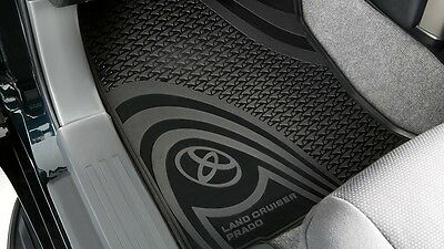Prado 150 Rubber Floor Mats Front & Rear set auto 2013-2016 New Genuine Toyota