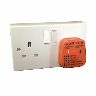 UK Mains Socket Tester 240v Polarity Test / 3 Pin Plug House Electrical Wiring