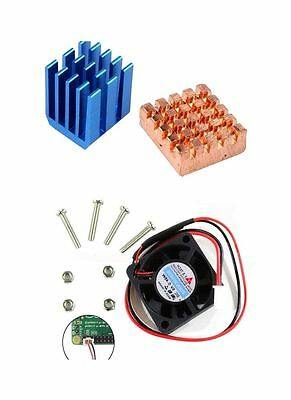 Copper Aluminium Heatsink Fan Cooling Kit for Raspberry Pi B+ Raspberry Pi 3 2