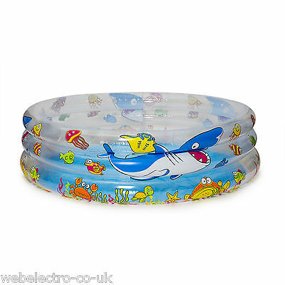 56135 Children Kids 3 Ring Inflatable Paddling Swimming Garden Play Pool Toy