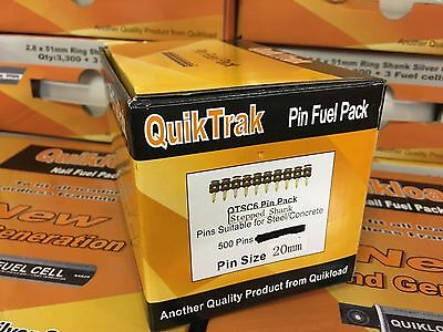 QUIKTRAK 1 BOX 20mm PINS FOR THE SPIT PULSA 700 500 PINS WITHOUT GAS