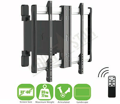 "TV Wall Mount Bracket MOTORIZED 32-60"" Vesa 600 x 400 Swivel Pivot Remote Contro"