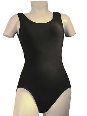 Cotton Dance Tank Adult Leotard NEW Black #5000A Sizes S, M, L, XL