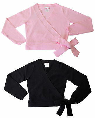 New Girls Child Basic Moves Cotton Blend Dance Sweater in Black or Pink